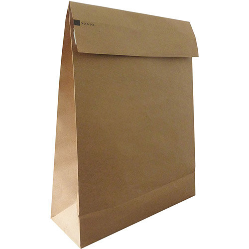 Kraft Mlr Eco Expanding Block Btm &Side Gusset Dbl P& 250x350x50mm +100 flap Man Ref RBL10528 Pack of 50