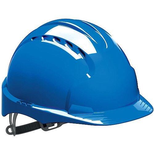 JSP EVO2 Vented Safety Helmet with Safety Ratchet Blue