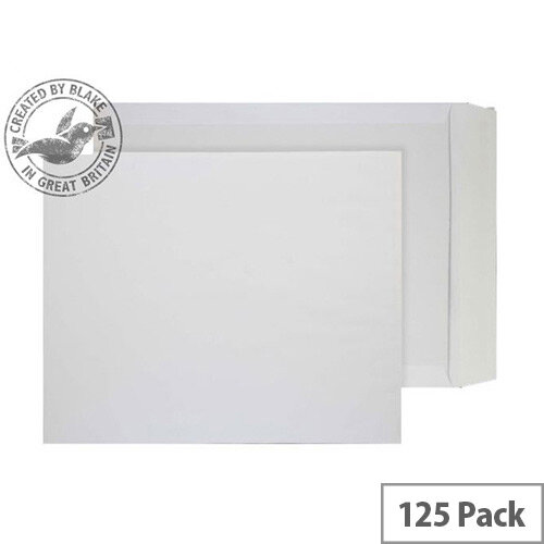 Purely Packaging White Envelopes Board Backed Peel and Seal 394x318mm (Pack 125) Ref 3200