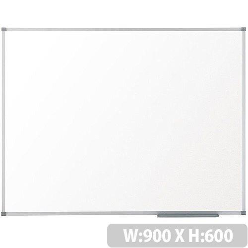 Nobo Prestige Enamel Eco Whiteboard Magnetic Fixings Included W900xH600mm White Ref 1905235