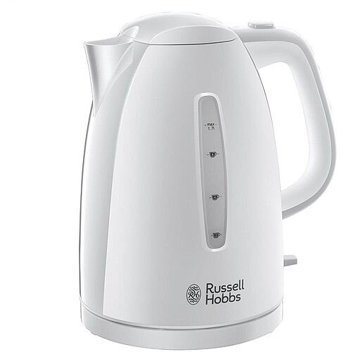 Russell Hobbs Textures 1.7 Litre 3000W Plastic Kettle White