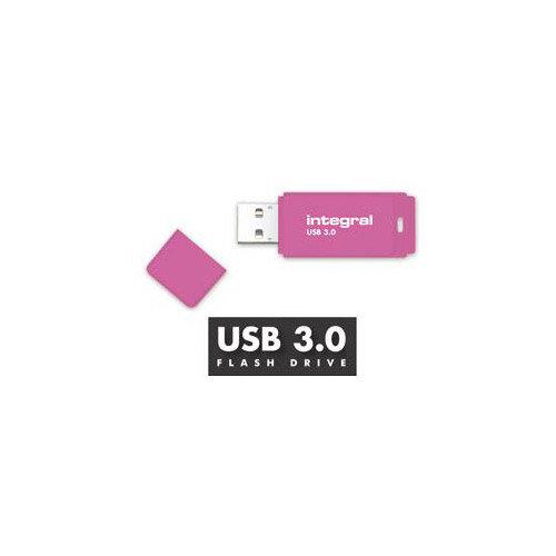 Integral Neon 128GB USB 3.0 Flash Drive Pink