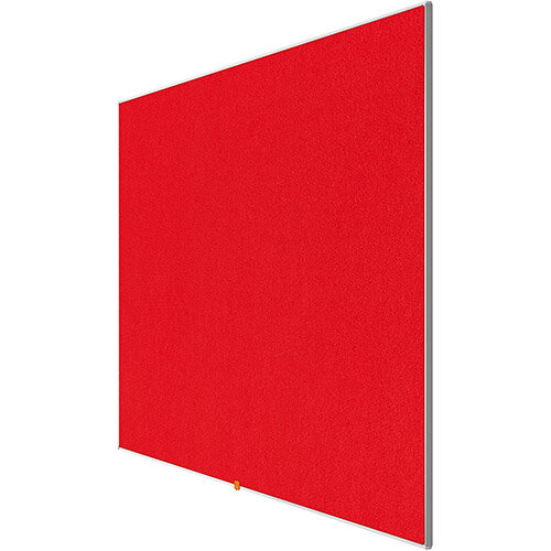 Nobo 32 inch Widescreen Felt Board 710x400mm Red Ref 1905310