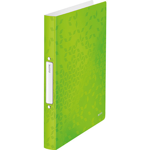 Leitz WOW Ring Binder 2 D-Ring 25mm Size A4 Green Ref 42410054 Pack of 10