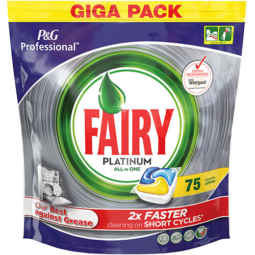 Fairy Professional Platinum Dishwasher Tablets Lemon Ref 74641 (Pack 75)