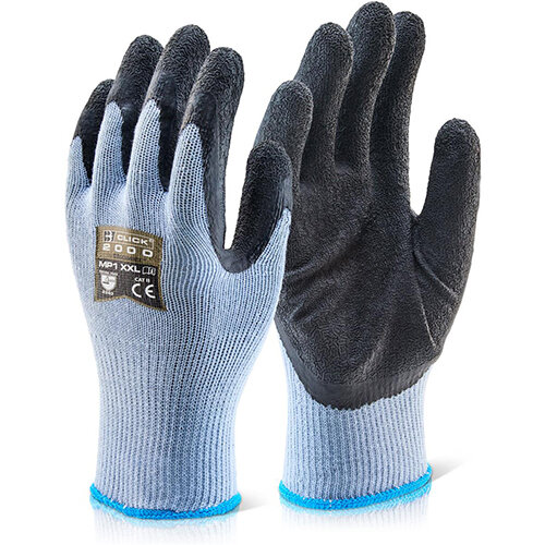 Click2000 Multi-Purpose Gloves Size S Black Pack of 100 Pairs - Ideal for Construction &Steel Handling Ref MP1BLS