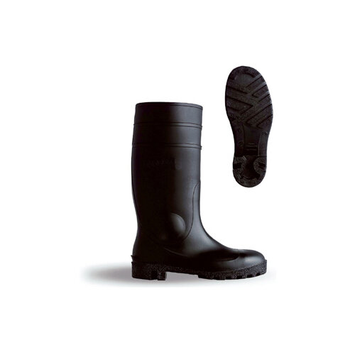 B-Dri Footwear Budget Semi Safety PVC Wellington Boots Size 5 (38) Black - Steel Midsole, Various Chemical Resistant, Oil Resistant Outsole, 100% Waterproof Ref BBSSB05