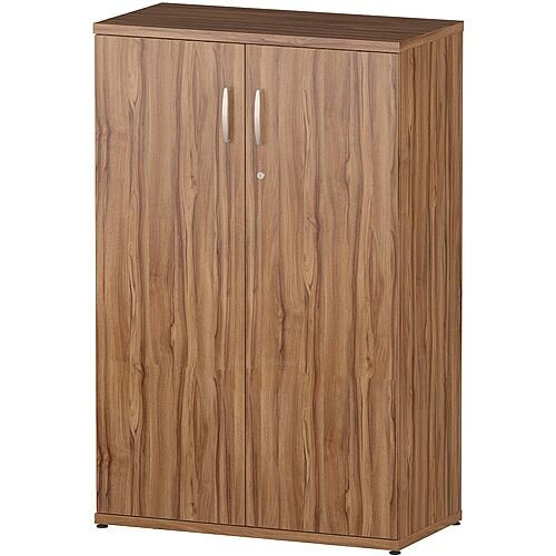 Medium Cupboard With 3 Shelves H1200mm Walnut