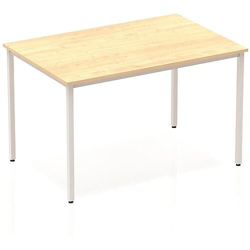 Rectangular Table Maple with Silver Frame 1200x800mm