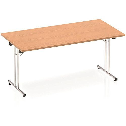 Rectangular Folding Table Oak W1600xD800mm