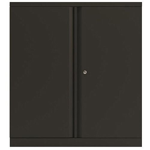Bisley Two Door Steel Storage Cupboard Low 1000mm Cupboard with Shelf Black