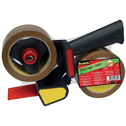 Scotch Pistol Grip Dispenser Black Single with 2 Rolls