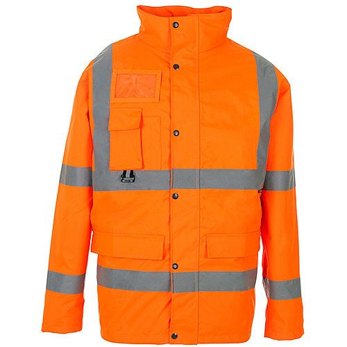 Supertouch High Visibility Breathable Jacket with 2 Band &Brace Large Orange Ref 35B83