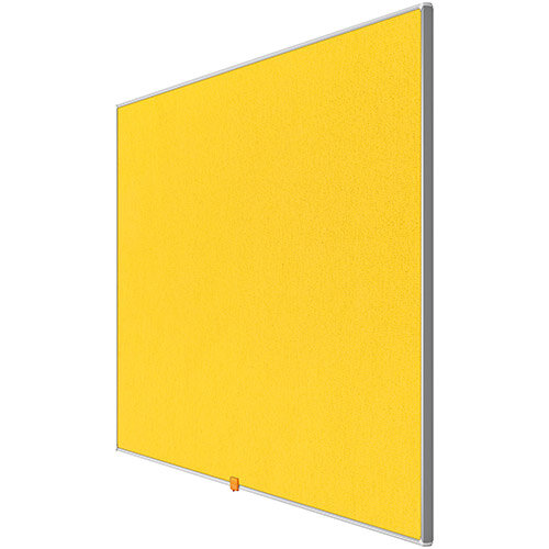 Nobo 32 inch Widescreen Felt Board 710x400mm Yellow Ref 1905318