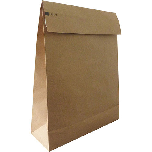 Kraft Mlr Eco Expanding Block Btm &Side Gusset Dbl P& 400x500x100mm +100 flap Man RefRBL10531 Pack of 50