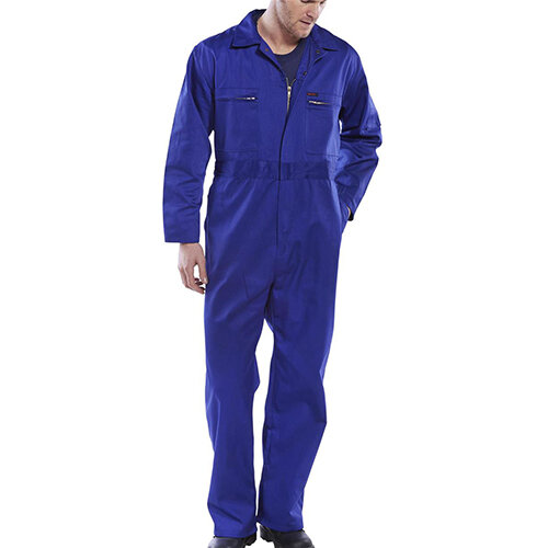 Super Click Workwear Heavy Weight Boiler Suit Work Overall Size 50 Royal Blue Ref PCBSHWR50