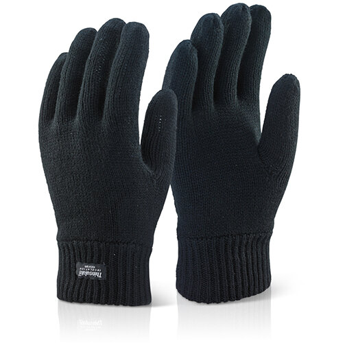 Click 2000 Large Thinsulate Gloves Black Pack of 10 Ref THGBL