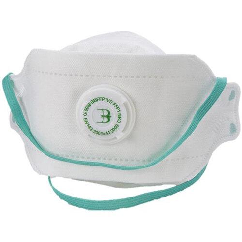 B-Brand P1 Premium Fold-flat Valve Mask White Pack of 20 Ref BBFFP1VD