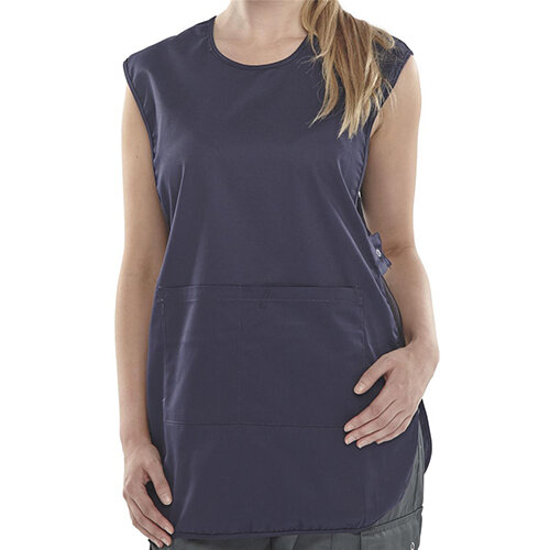Click Workwear Tabbard PolyCotton Side Fastening Large Navy Blue Ref PCTABNL