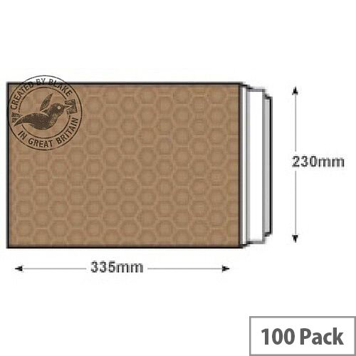 Blake Purely Packaging C4 Peel and Seal Padded Envelopes Gold Pack of 100