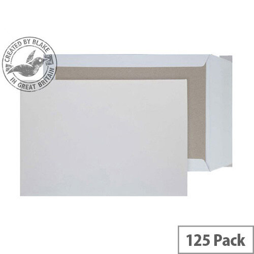 Purely Packaging C5 White Envelopes Board Backed P& 120gsm (Pack 125)