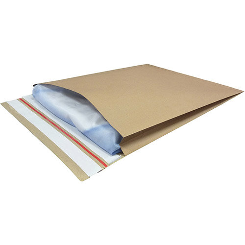 Kraft Mailer Eco V Bottom &Side Gusset Double P& 350x450x40mm +100 flap Manilla Ref RBL10532 Pack of 50