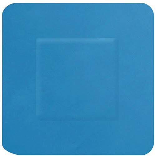 Click Medical Hygioplast Detectable Square Plasters Blue Pack of 100 Ref CM0505