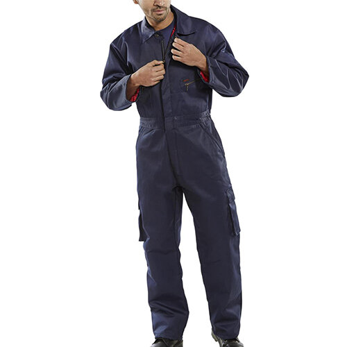 Click Workwear Quilted Boilersuit Work Overall Size 54 Navy Blue Ref QBSN54
