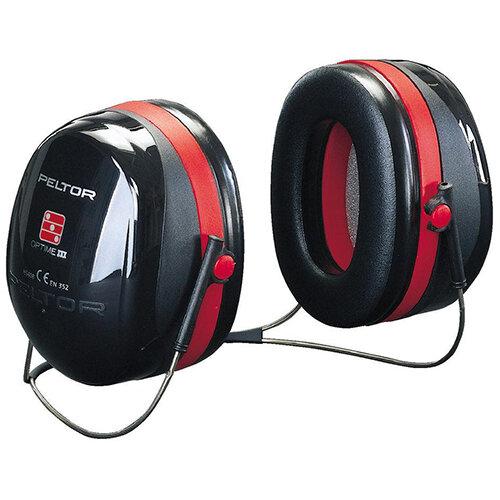 3M PELTOR Optime III H540B Neckband Ear Defender Headset SNR35 Black &Red Ref H540B