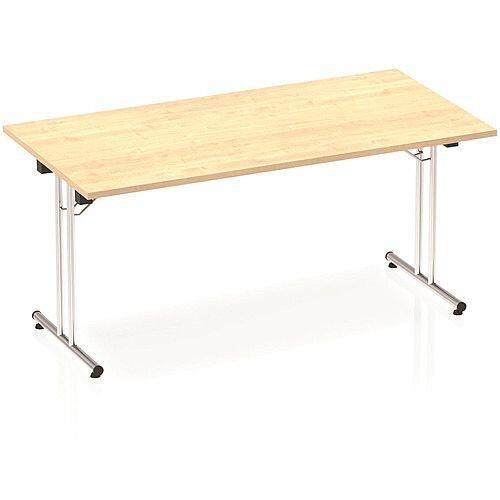 Rectangular Folding Table Maple W1600xD800mm