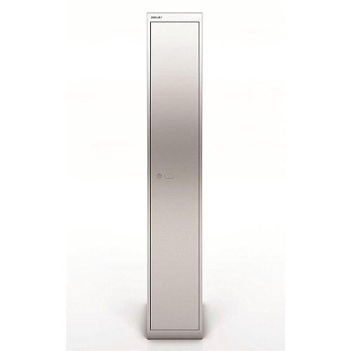 Bisley Steel Locker 457 One Door Silver