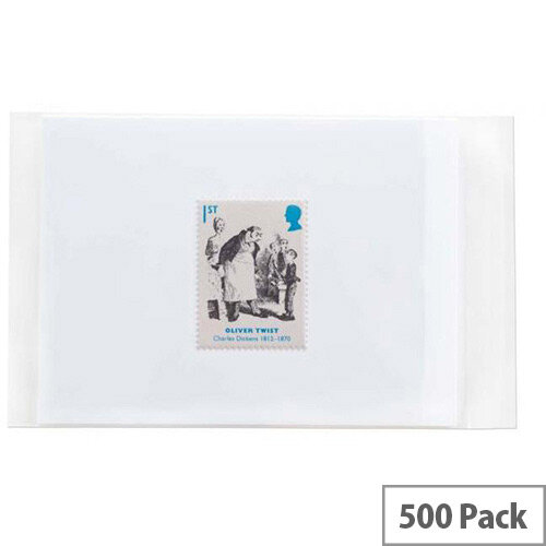 Purely Packaging White Cellophane Bag 30mic 165x230x30mm Protective Envelopes Pack of 500