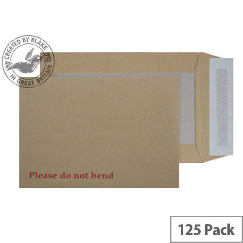 Purely Packaging Envelope Board Backed P& 120gsm C5 Manilla Ref 5112 [Pack 125]