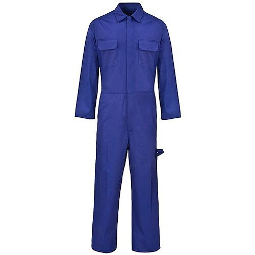 Supertouch Coverall Basic with Popper Front Opening PolyCotton Large Navy Ref 51903