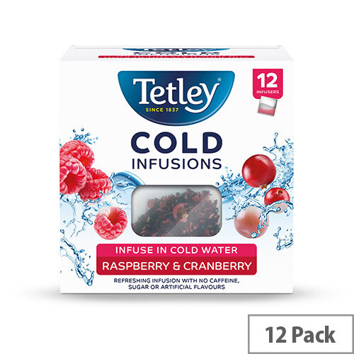 Tetley Cold Infusions Raspberry &Cranberry Ref 4692A Pack of 12