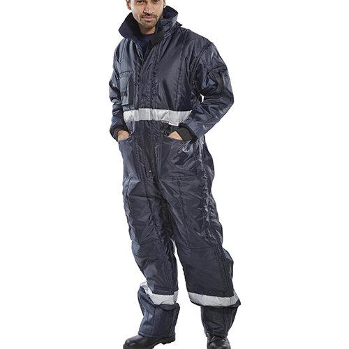 Click Freezerwear Coldstar Freezer Protective Coverall Size L Navy Blue Ref CCFCNL