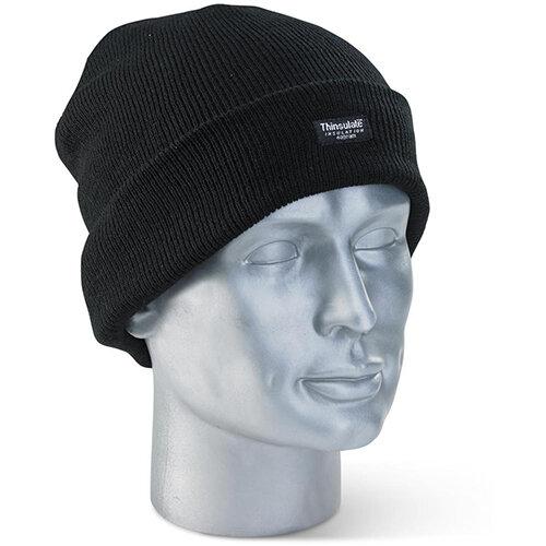 Click Workwear Thinsulate Beanie Cap Black Ref THHBL