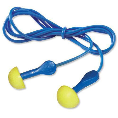 3M E-A-R Push-Ins Earplugs Corded 100 Pairs per Pack Ref EARPICORD