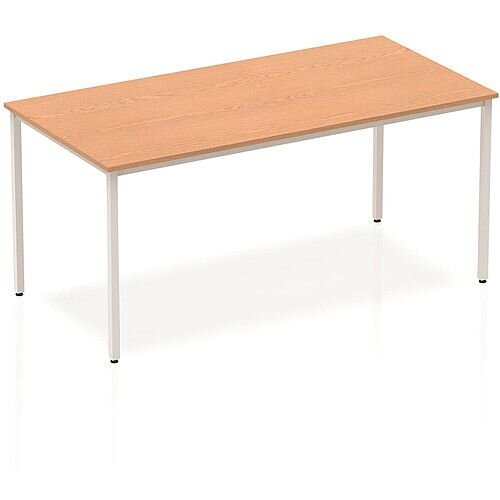 Rectangular Table Oak with Silver Frame 1600x800mm