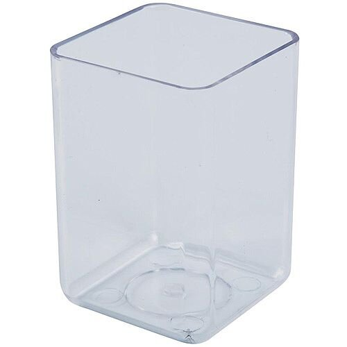 Polystyrene Executive Pen Tidy One Compartment Crystal Clear