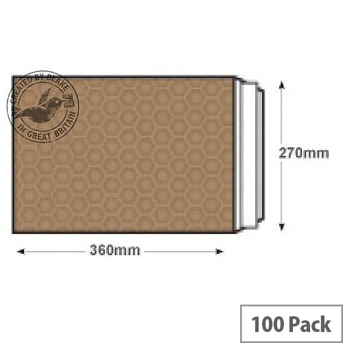 Blake Purely Packaging 360x270mm Peel and Seal Padded Envelopes Gold Pack of 100