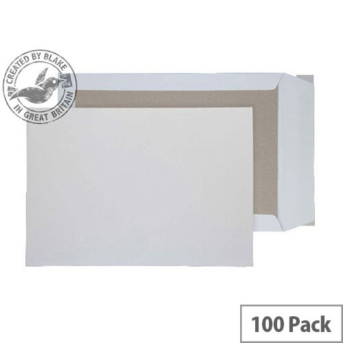 Purely Packaging C3 White Envelopes Board Backed Peel and Seal 120gsm (Pack 100)