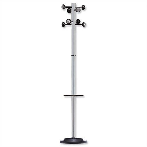 Accueil Coat Stand Solid Head Steel Post Umbrella Stand Metal Grey 35061M