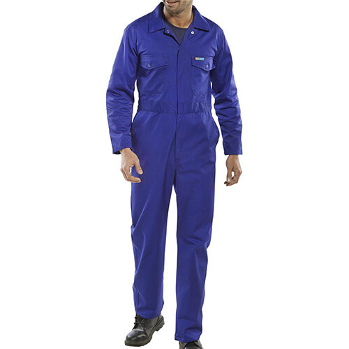Click Workwear Boilersuit Work Overall Size 54 Royal Blue Ref PCBSR54
