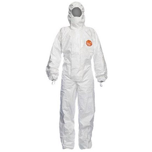DuPont Tychem 4000 S CHZ5 Large Hooded Coverall White