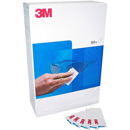 3M Disposable Lens Cleaning Tissue Dispenser with 500 Sachets