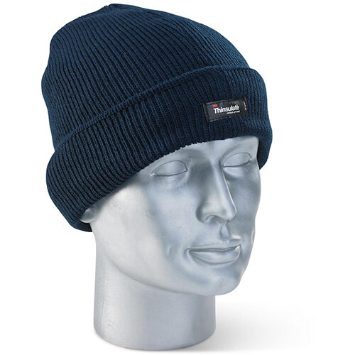 Click Workwear Thinsulate Beanie Cap Navy Blue Ref THHN