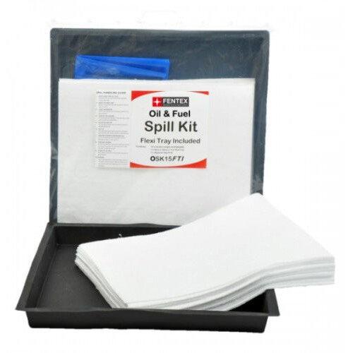 Fentex Oil & Fuel Spill Kit &Tray 15L Ref OSK15FTI