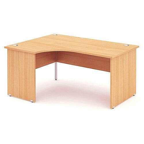L-Shaped Corner Left Hand Panel End Office Desk Beech W1600mm