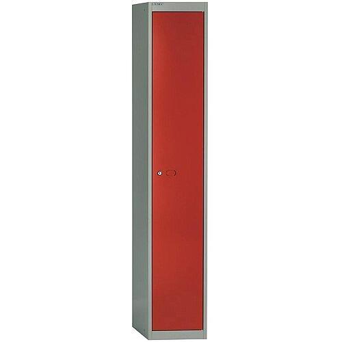 Bisley Steel Locker 457mm Deep 1 Door Grey &Red